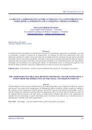 La práctica administrativa entre la creencia y el conocimiento una ...