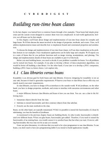 Building run-time bean classes - Manning Publications