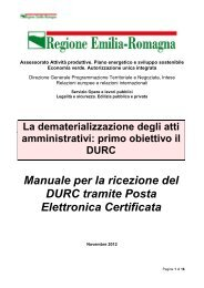 Manuale per la ricezione del DURC tramite Posta Elettronica ...