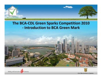 Introduction to BCA Green Mark