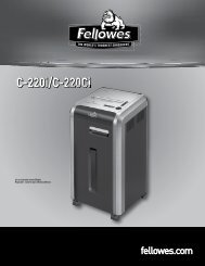 Manuel d'utilisation C-220i/C-220Ci - Fellowes