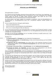 Hinweise zum Wohngeld - Zentraler Thüringer Formularservice