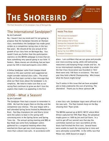 THE SHOREBIRD - Barnegat Bay Yacht Racing Association