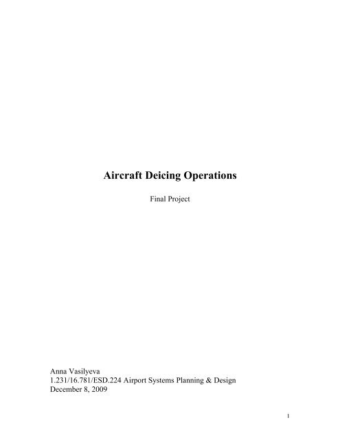 Aircraft Deicing Operations