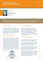 Updating progress on Highway Asset Management - Atkins