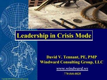 2005_TENNANT Leadership in Crisis.pdf - North Alabama Chapter ...