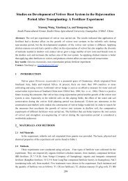 Studies on Development of Vetiver Root System in the Rejuvenation ...