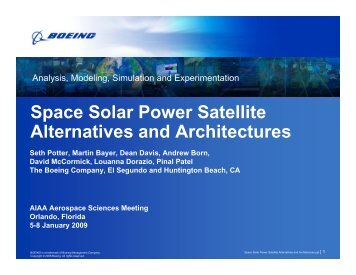Seth Potter, et al, The Boeing Company - Space Solar Power ...