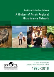 A History of Asia's Regional Microfinance Network - Banking with the ...