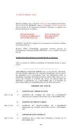 448 16 DÉCEMBRE 2002 PROCÈS-VERBAL DE ... - Ville de Bromont