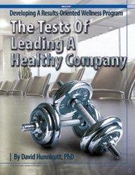 Six Tests of Leading a Healthy Company - MetroHartford