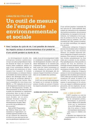 Un outil de mesure de l'empreinte environnementale et sociale