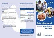 Ouderschapsverlof en andere thematische verloven 2013 - Aclvb