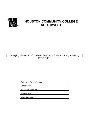 HOUSTON COMMUNITY COLLEGE SOUTHWEST