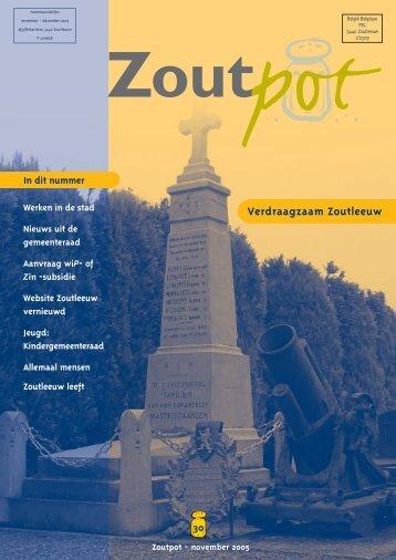 Zoutpot nr. 30 - november 2005 - Stad Zoutleeuw