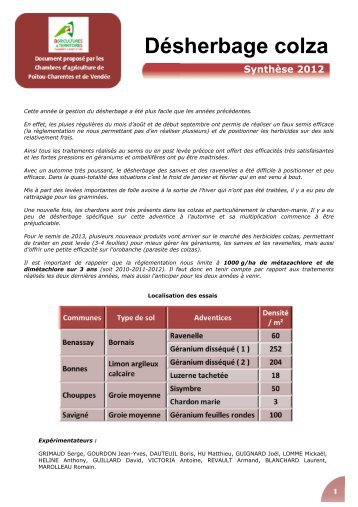 Fiche technique d sherbage alternatif chambre d 39 agriculture des - Chambre d agriculture moselle ...