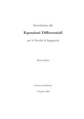Equazioni Differenziali - MathMods