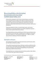 Toimintakertomus 2010 - Maaseutupolitiikka