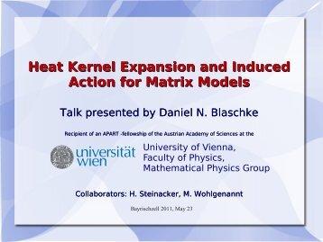 Daniel Blaschke - Particle Physics Group