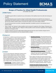 Scope of Practice for Allied Health Professionals - British Columbia ...