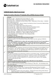 NO MARKING REQUIRED Sellafield Supply Chain ... - Suppliers