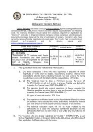 Detailed Tender Notice - SCCL Home page