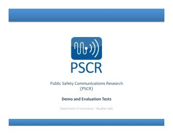 Demo and Evaluation Tests - PSCR