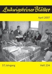 April 2007 57. Jahrgang Heft 234 - Jugendburg Ludwigstein
