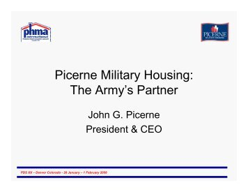 Picerne Military Housing: The Army's Partner