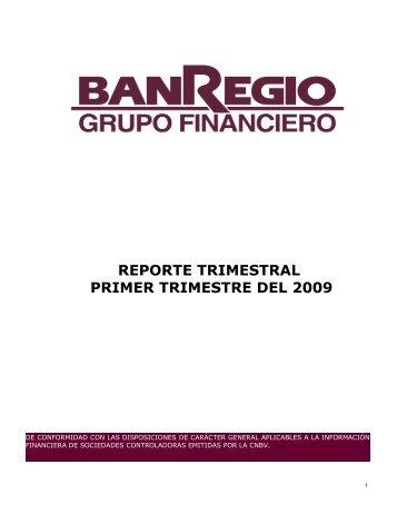 Reporte 1T09 - BanRegio