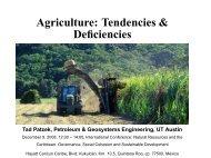 Agriculture: Tendencies & Deficiencies - Tadeusz (Tad) Patzek