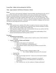 Lesson Plan: Indian Activism during the Cold War - Schaumburg ...