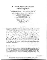 A Unified Approach Towards Text Recognition - CiteSeerX
