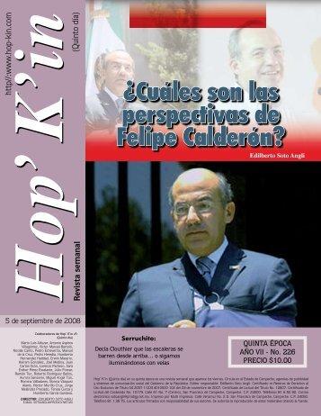 ¿Cuáles son las perspectivas de Felipe Calderón?