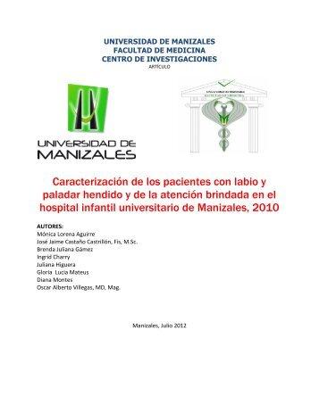 labio y paladar hendido hosp inf.pdf - Universidad de Manizales
