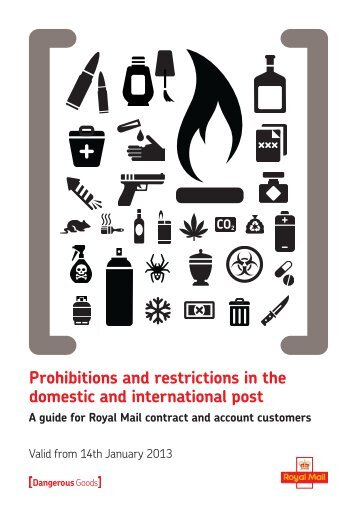 Prohibitions and restrictions in the domestic and ... - Royal Mail