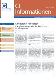 CI-Informationen - Comenius-Institut