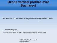 Ozone vertical profiles over Bucharest - INOE 2000