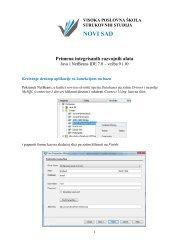 Kreiranje desktop aplikacije sa konekcijom na bazu - Visoka ...
