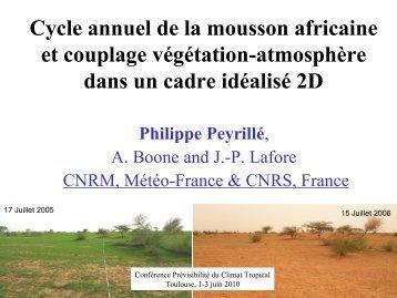 Etude du cycle annuel de la mousson africaine ... - Megha-Tropiques
