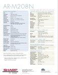 AR-M208N Brochure - Copiers - Page 6