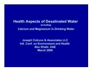 Health Aspects of Desalinated Water