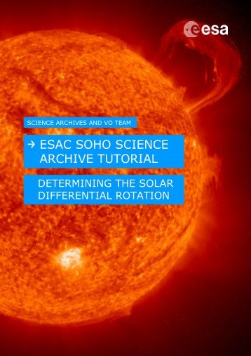 ESAC SOHO Science Archive Tutorial