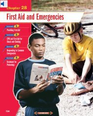 Chapter 28: First Aid and Emergencies