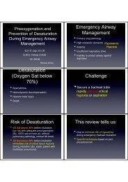 Emergency Airway Management Desaturation (Oxygen Sat below ...