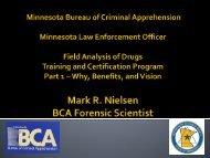 BCA – Drug Field Testing Training Proposal - Minnesota CLE
