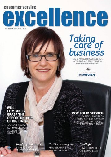 Taking care of business - Customer Service Institute of Australia