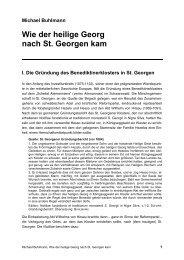 Wie der heilige Georg nach St. Georgen kam - michael-buhlmann.de