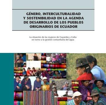 género, interculturalidad y sostenibilidad en la agenda de ... - IEPALA