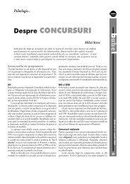 b l Despre CONCURSURI - GInfo